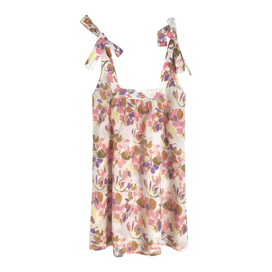 Robes - Robe très courte à fleurs