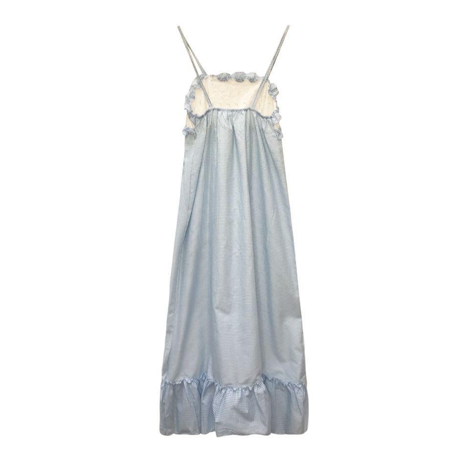 Robes - Robe longue vichy