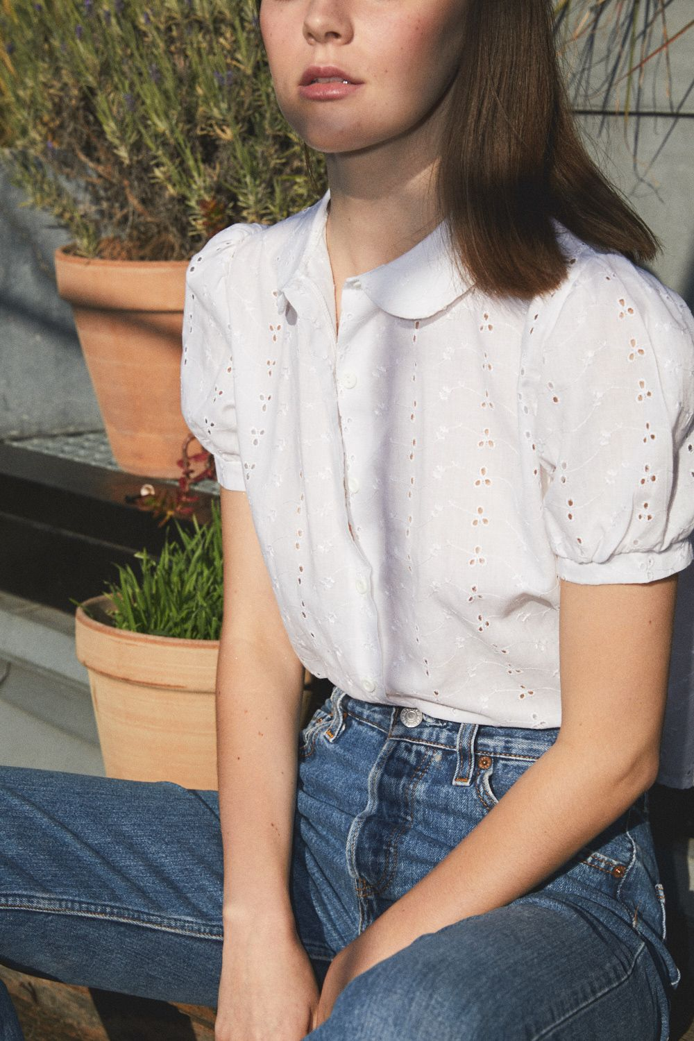 Tops - Blouse broderies anglaises