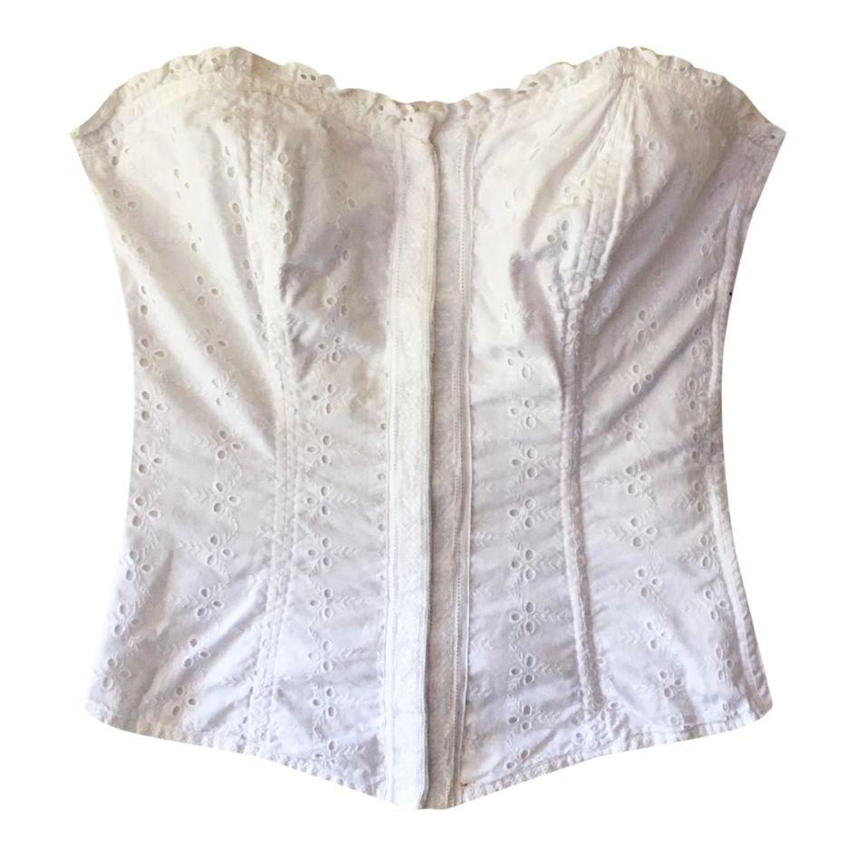Tops - Bustier à broderies anglaises