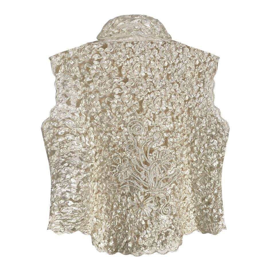 Tops - Crop top en dentelles et perles