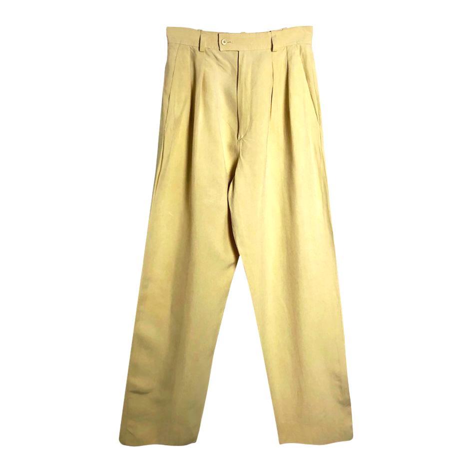 Pantalons - Pantalon en soie Yves Saint Laurent