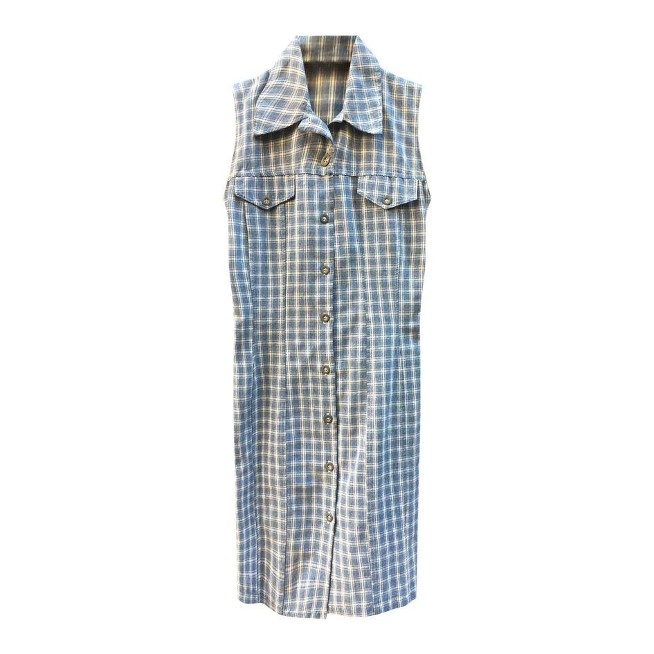 Robes - Robe sans manche à carreaux