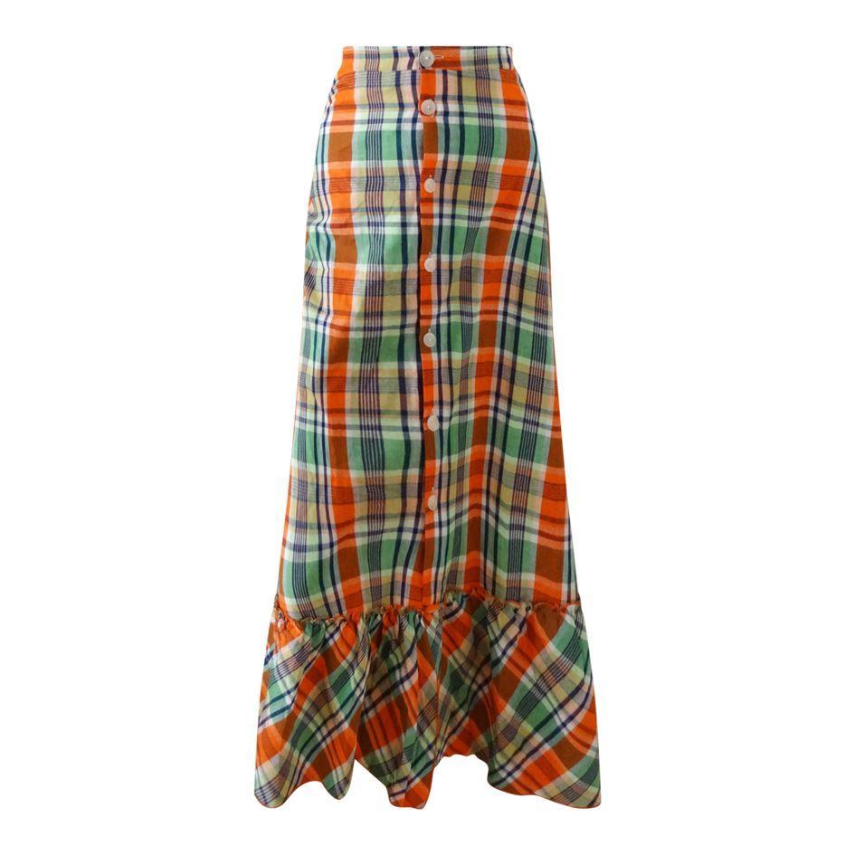 Tops - Jupe longue madras