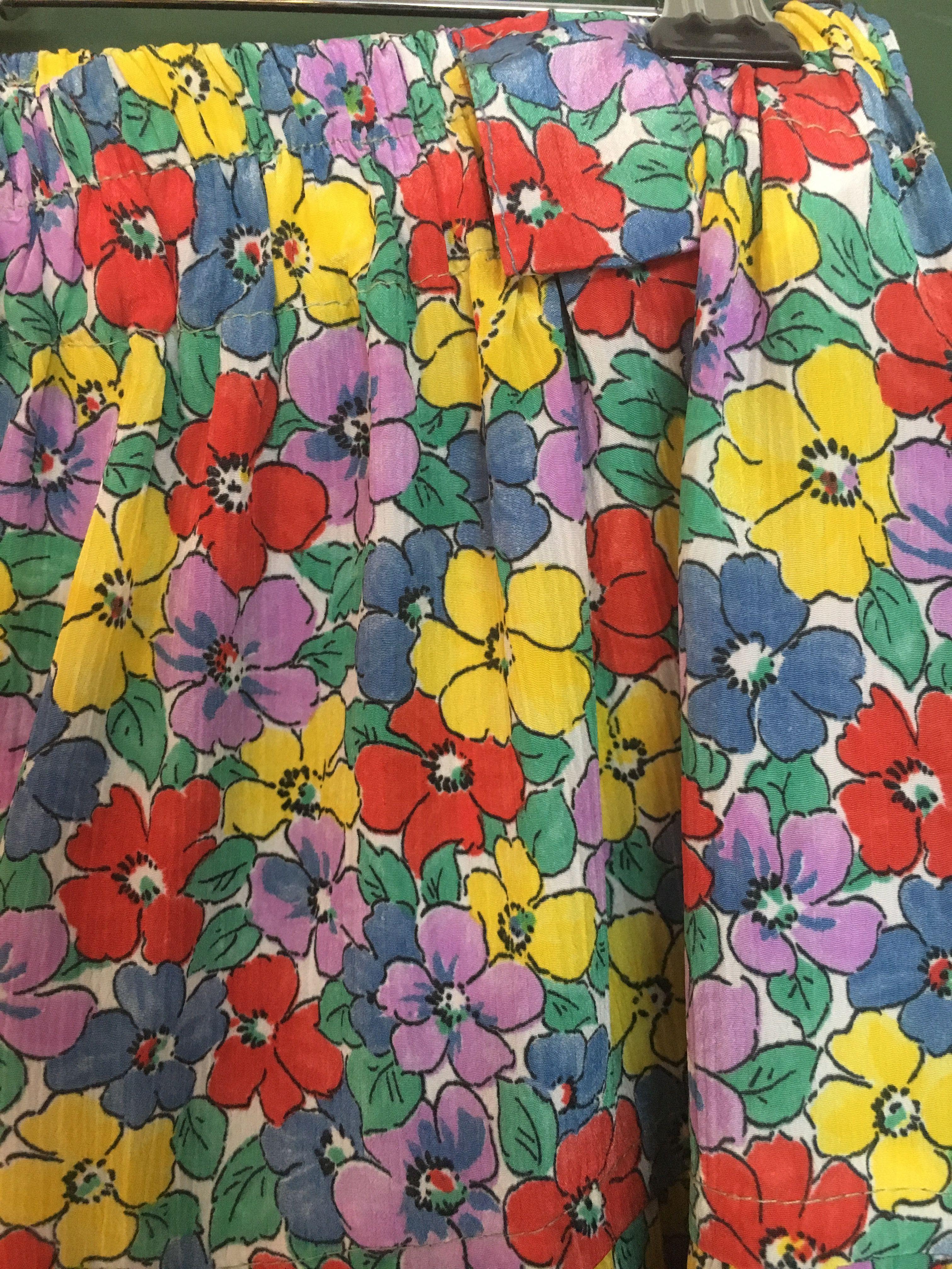 Jupes - Jupe midi à fleurs