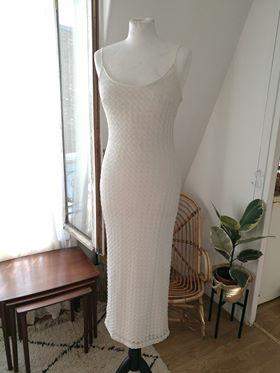 Robes - Robe longue en crochet