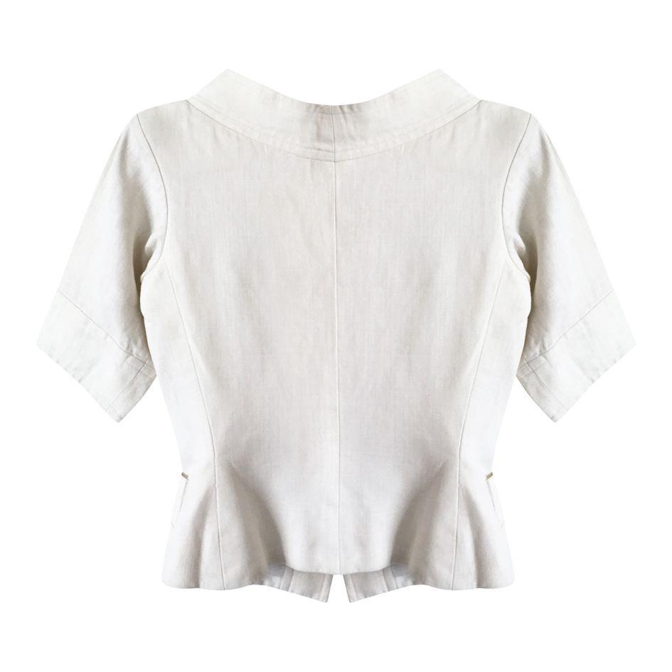 Vestes - Veste en lin Yves Saint Laurent Rive Gauche
