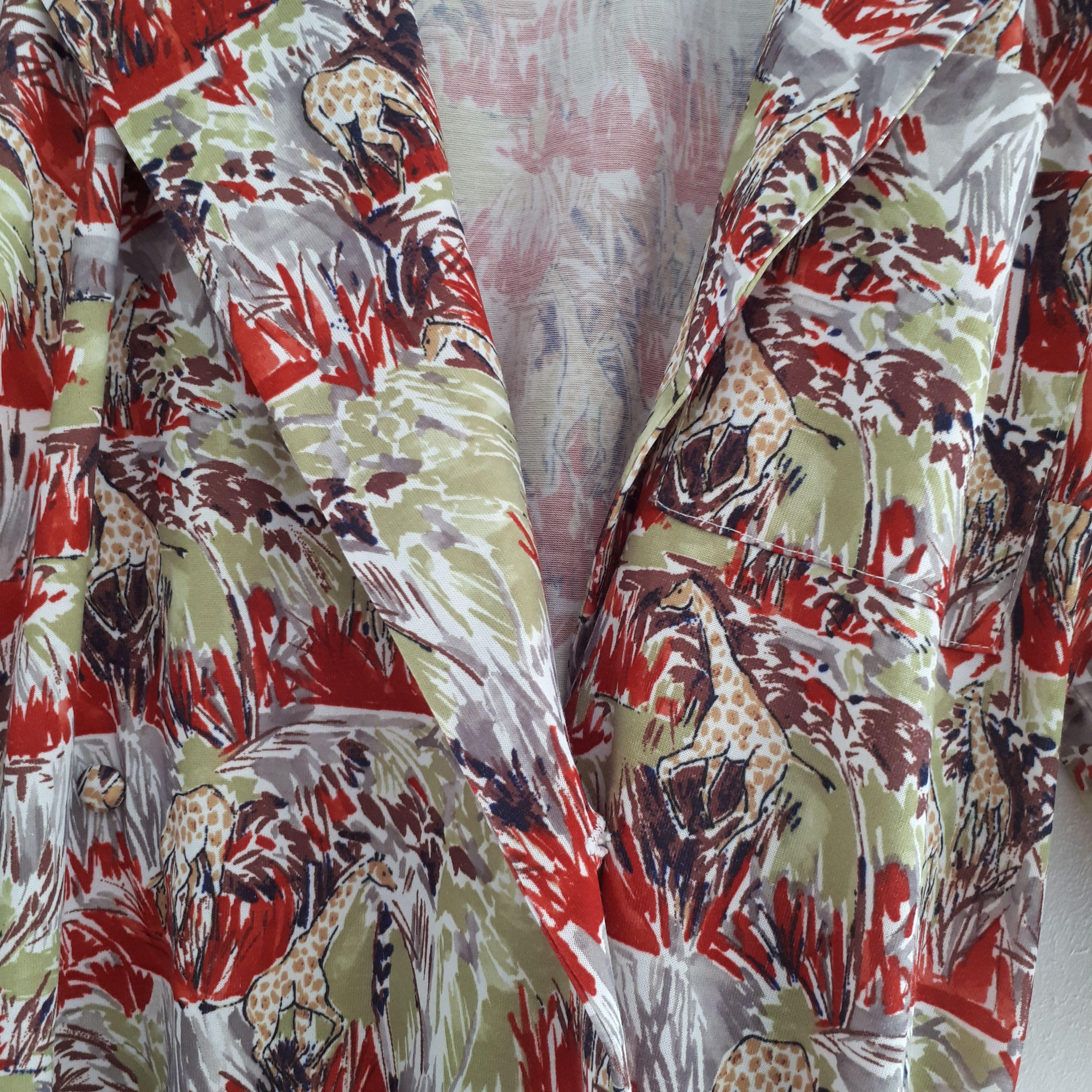 Robes - Robe chemisier Girafes