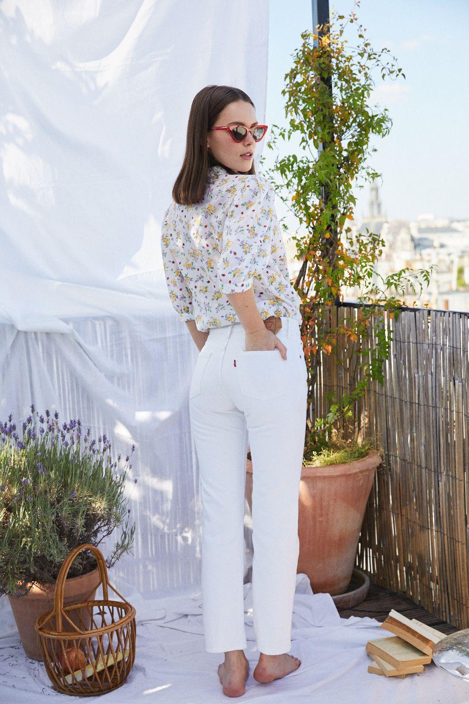 Pantalons - Jean Levi's blanc 501