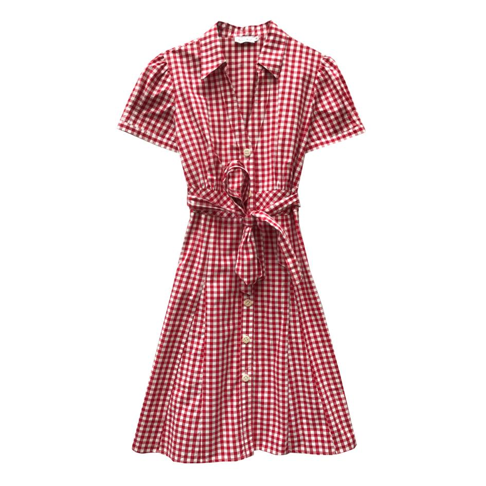 Robes - Robe vichy rouge