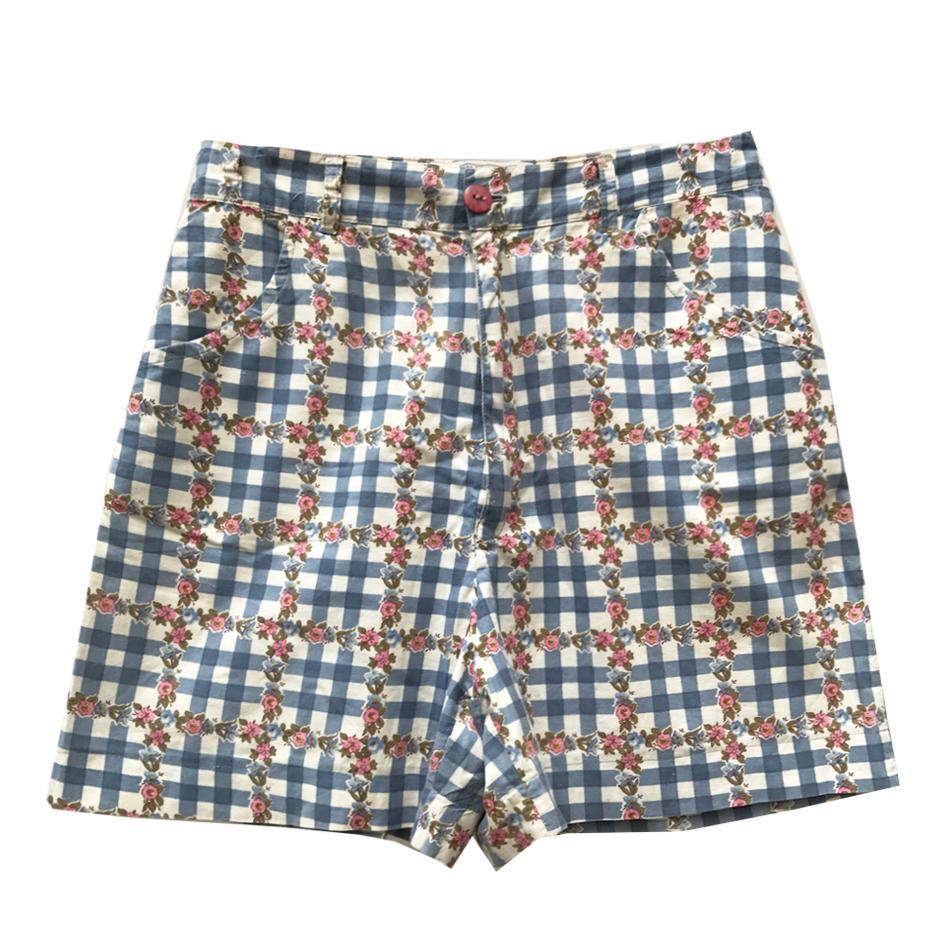 Shorts - Short vichy et fleurs