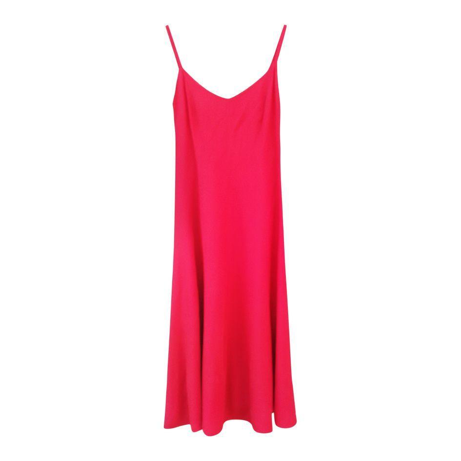 Robes - Robe en soie rouge
