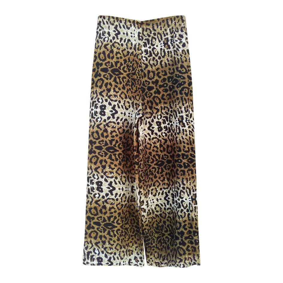 Pantalons - Pantalon portefeuille Léopard