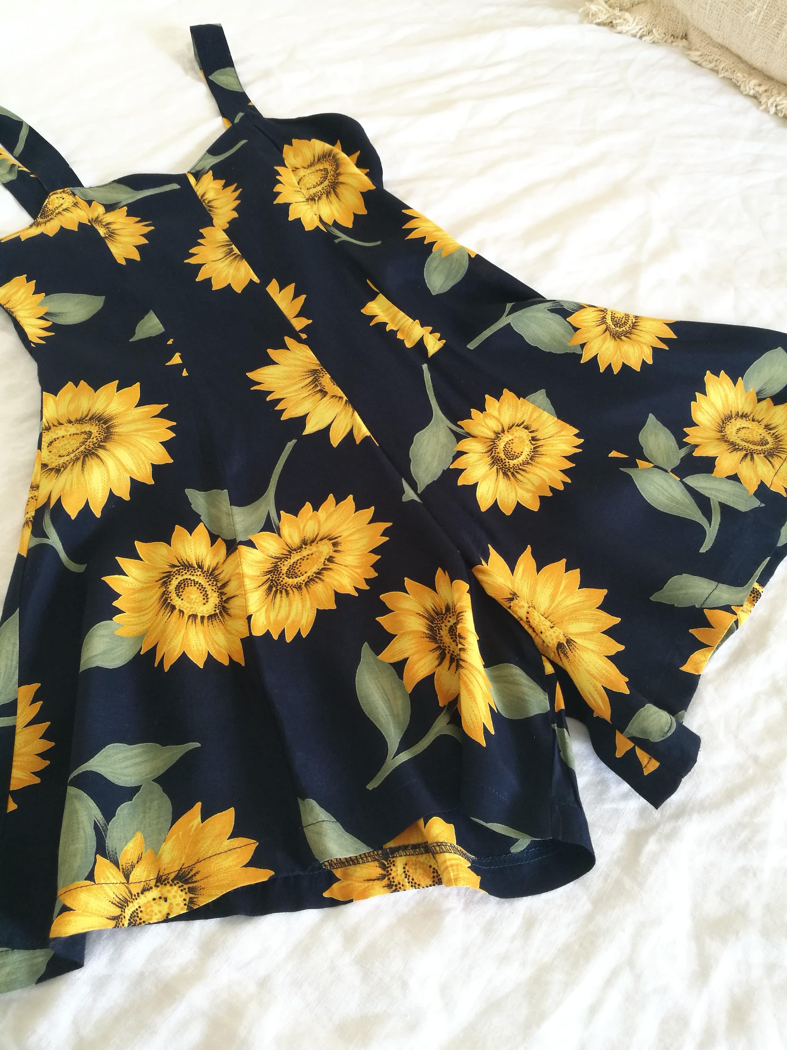 Robes - Combi-short tournesols