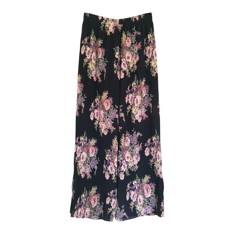 Pantalons - Pantalon plissé à fleurs