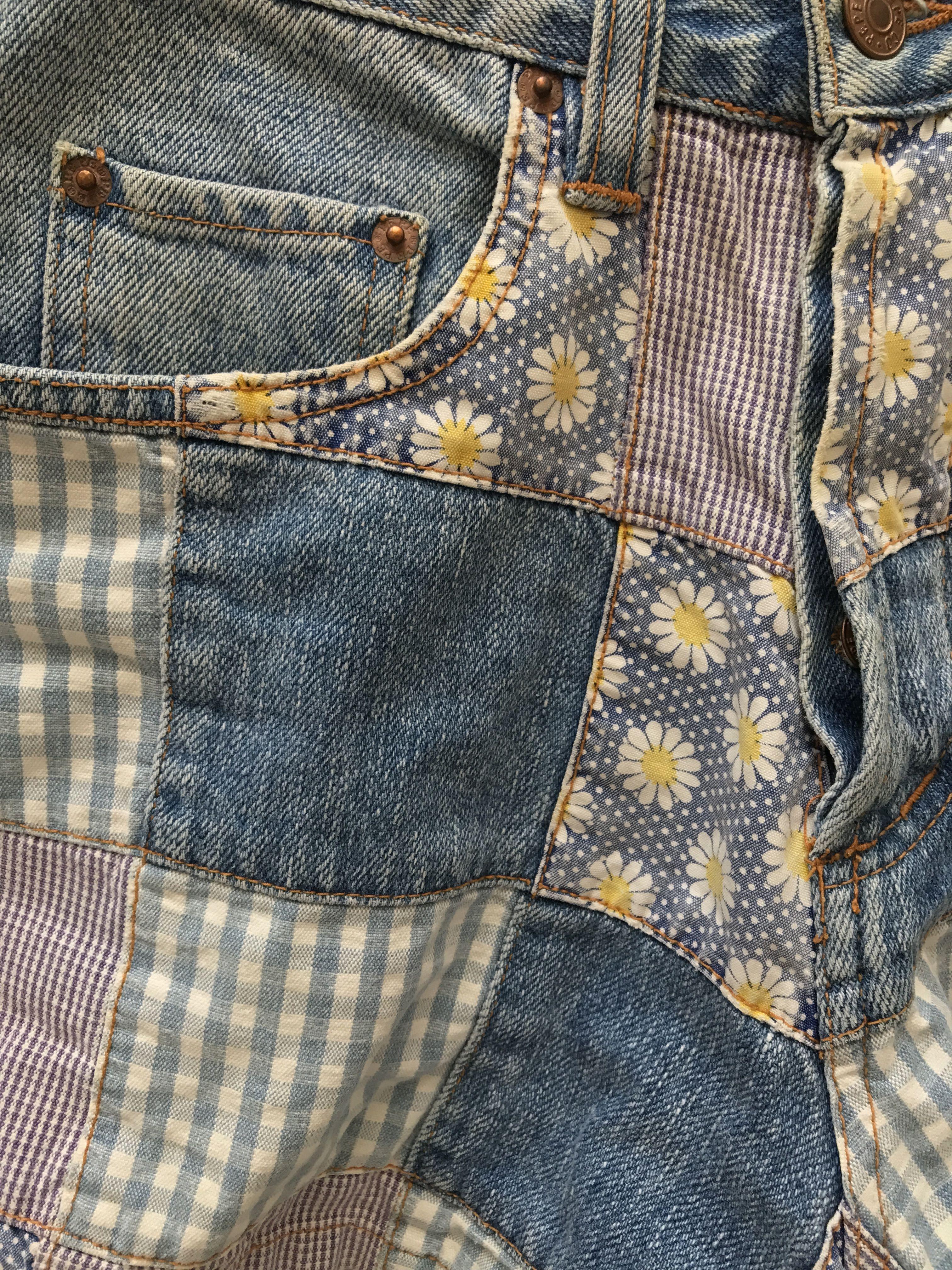 Shorts - Short patchwork marguerites
