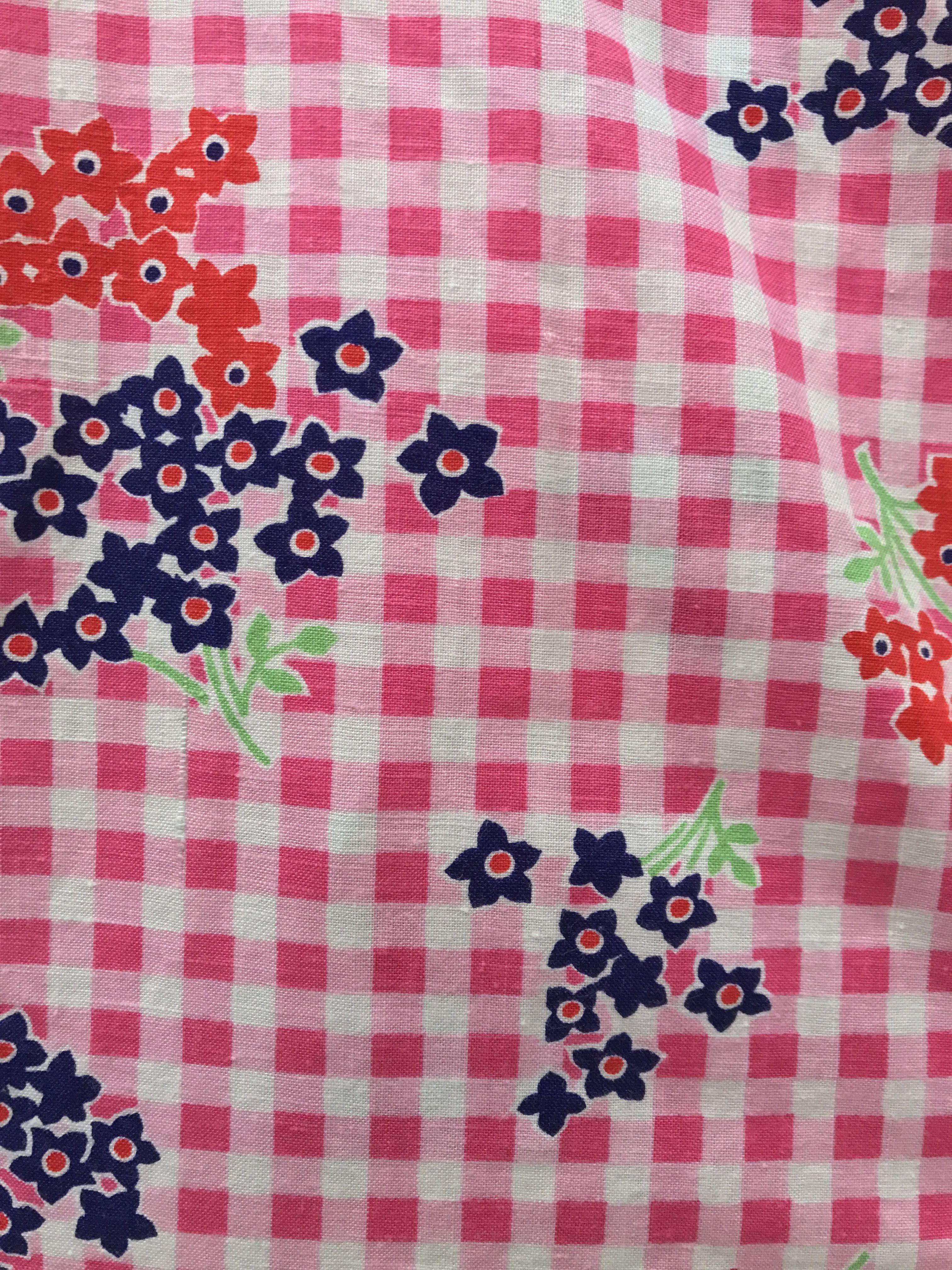 Vestes - Ensemble vichy & fleurs