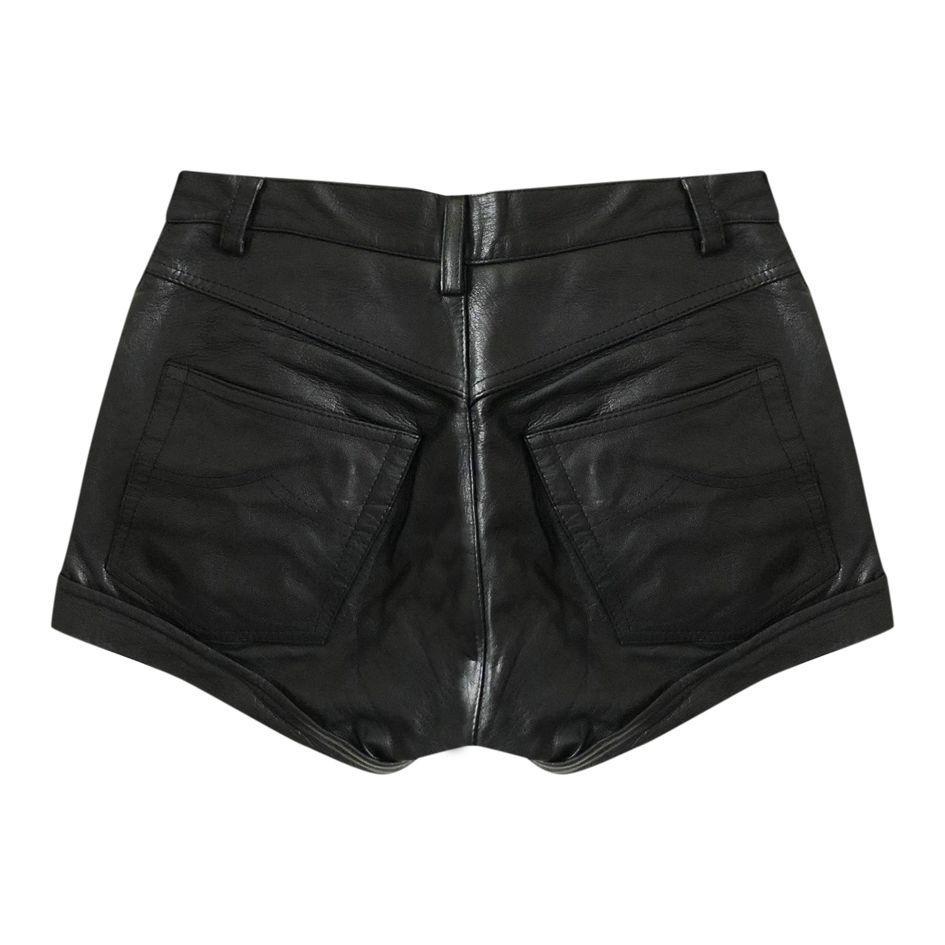 Shorts - Mini short en cuir