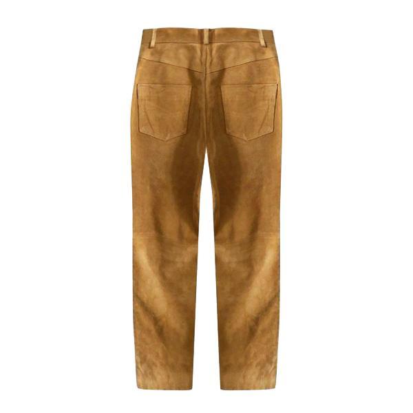 Pantalons - Pantalon en daim camel