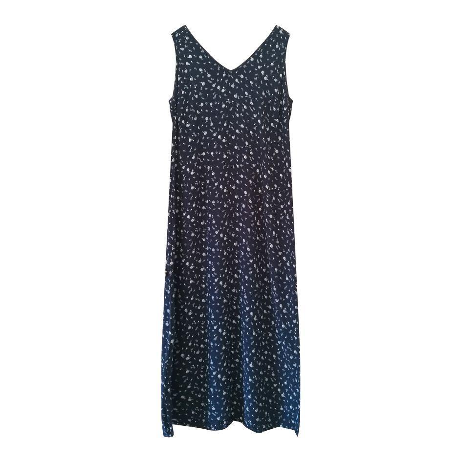 Robes - Robe longue bleue marine
