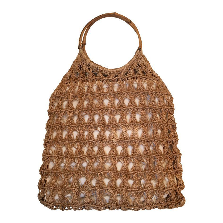 Accessoires - Sac en raphia et bambou