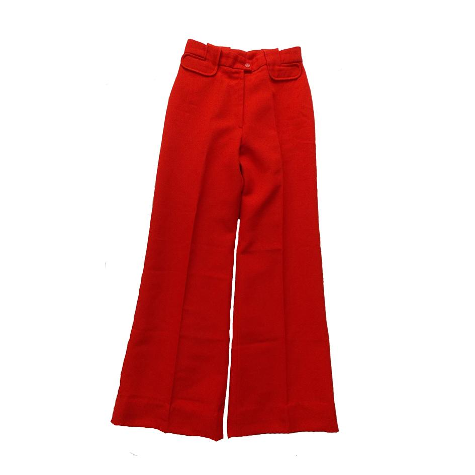 Pantalons - Pantalon flare rouge