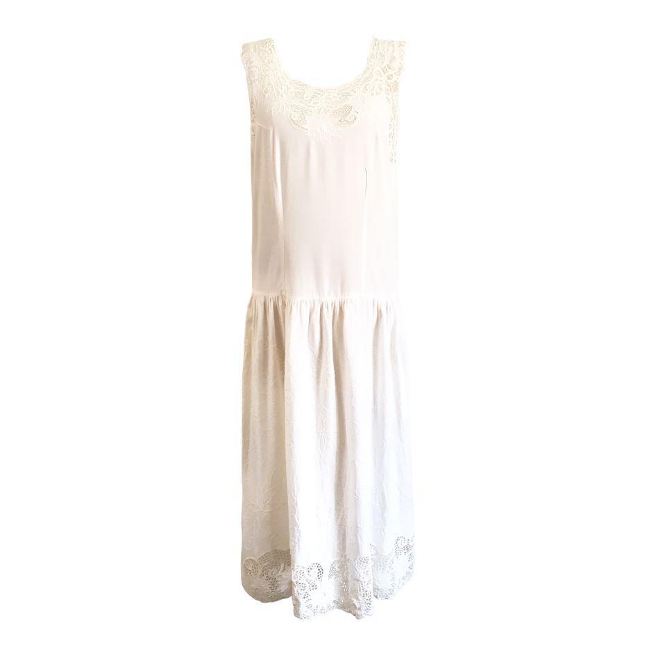 Robes - Robe longue écrue