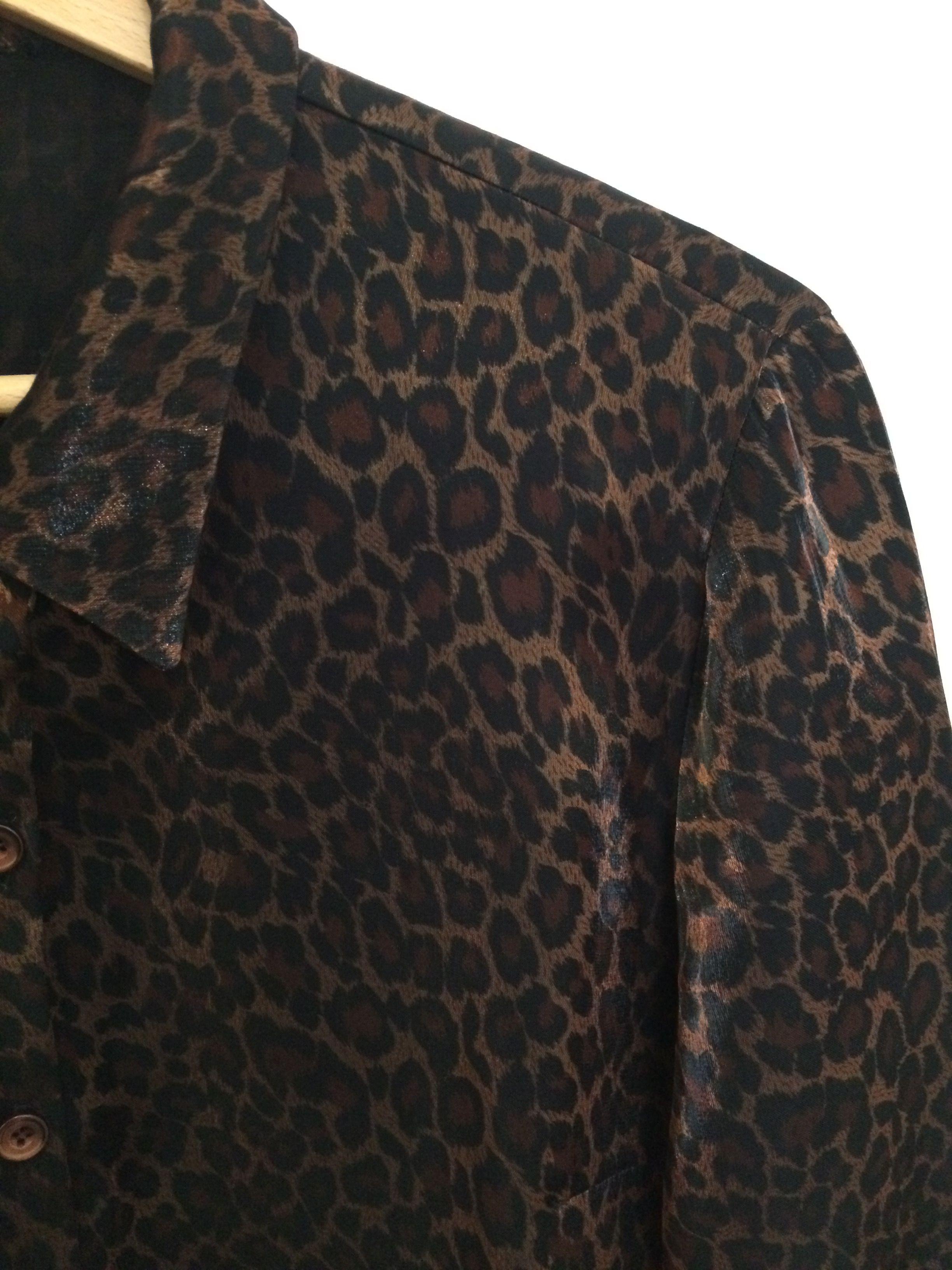 Tops - Chemise léopard satinée
