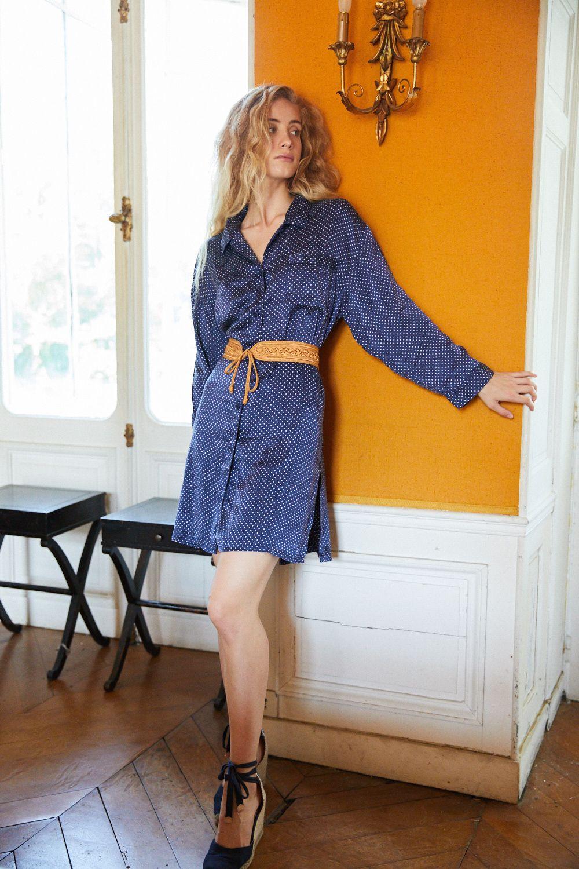 Robes - Robe chemise en soie