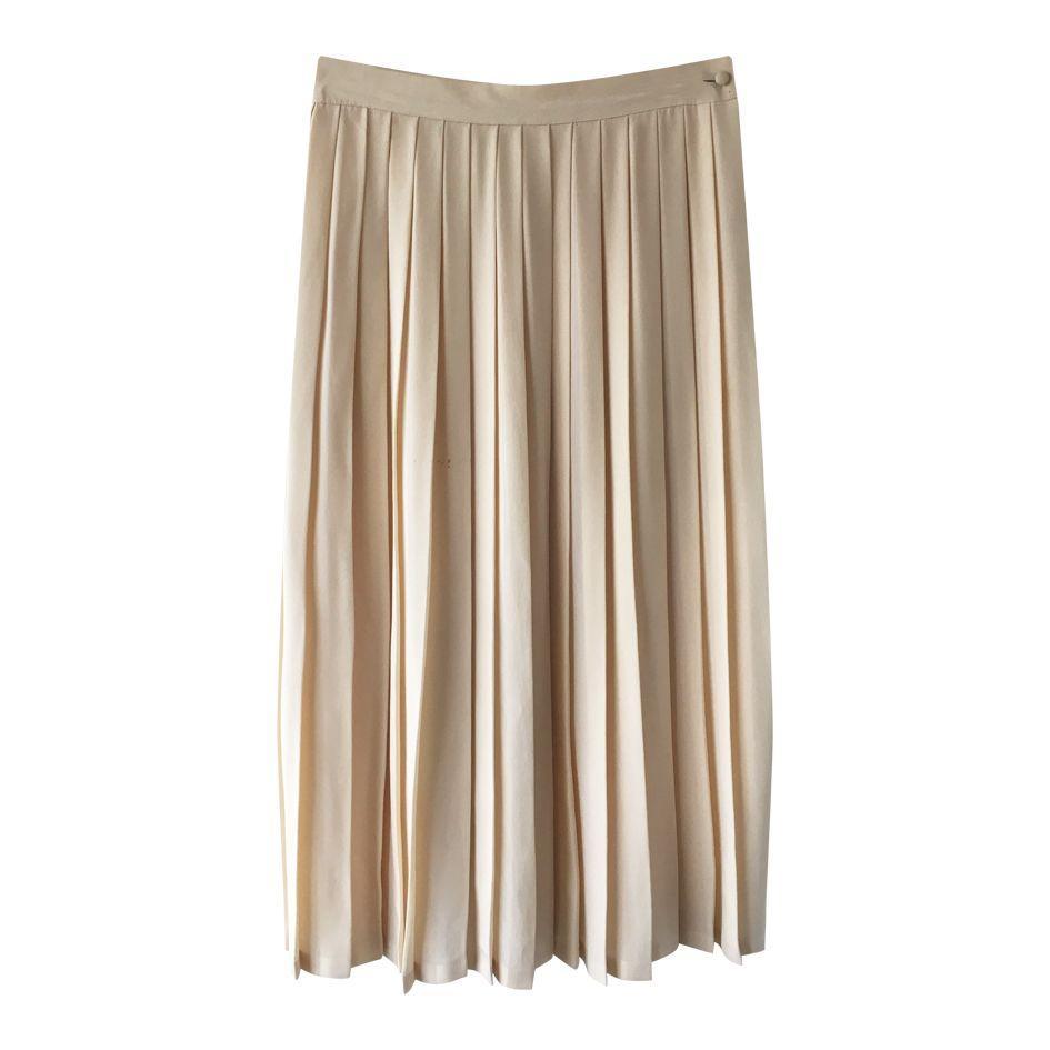 Jupes - Jupe plissée en soie