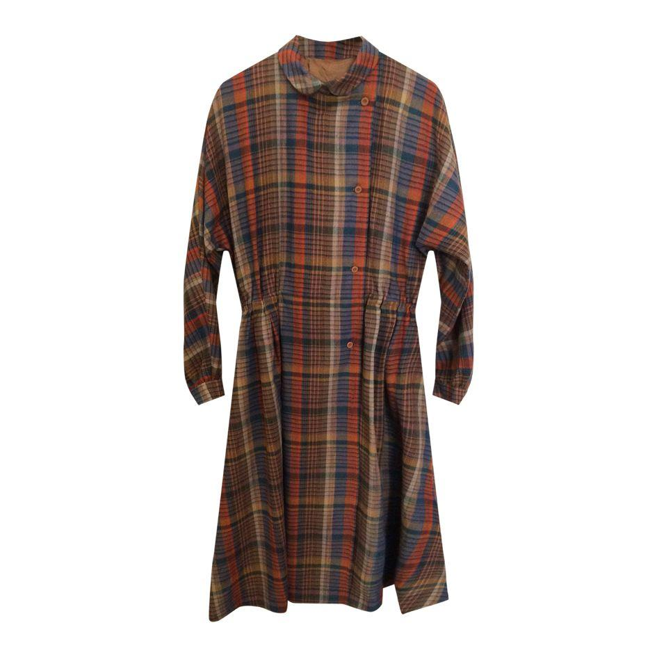 Robes - Robe longue tartan