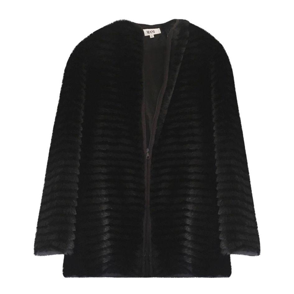 Vestes - Faux fur noir