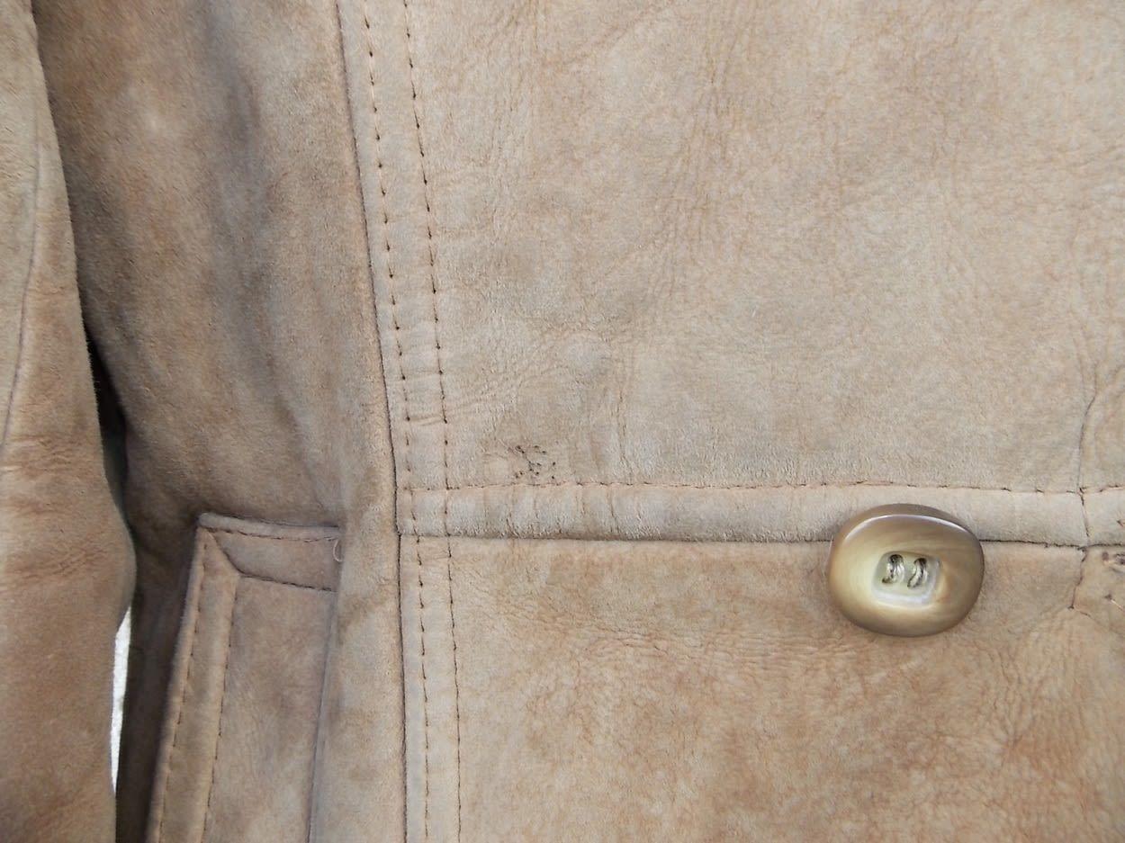 Manteaux - Peau lainée camel boutons croisés