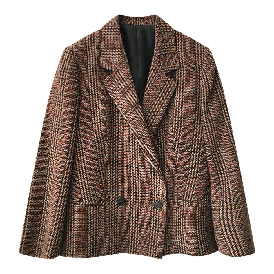 Vestes - Blazer croisé en tweed