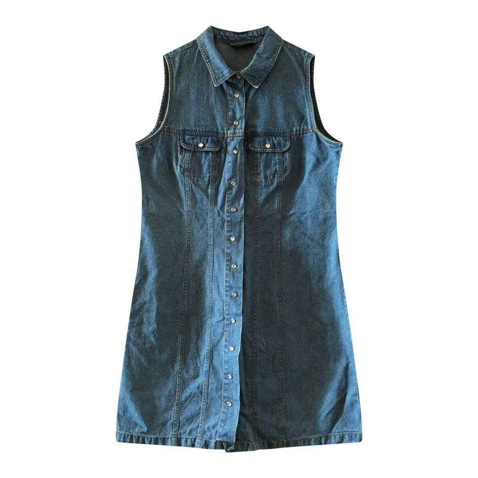 Robes - Robe courte en jean