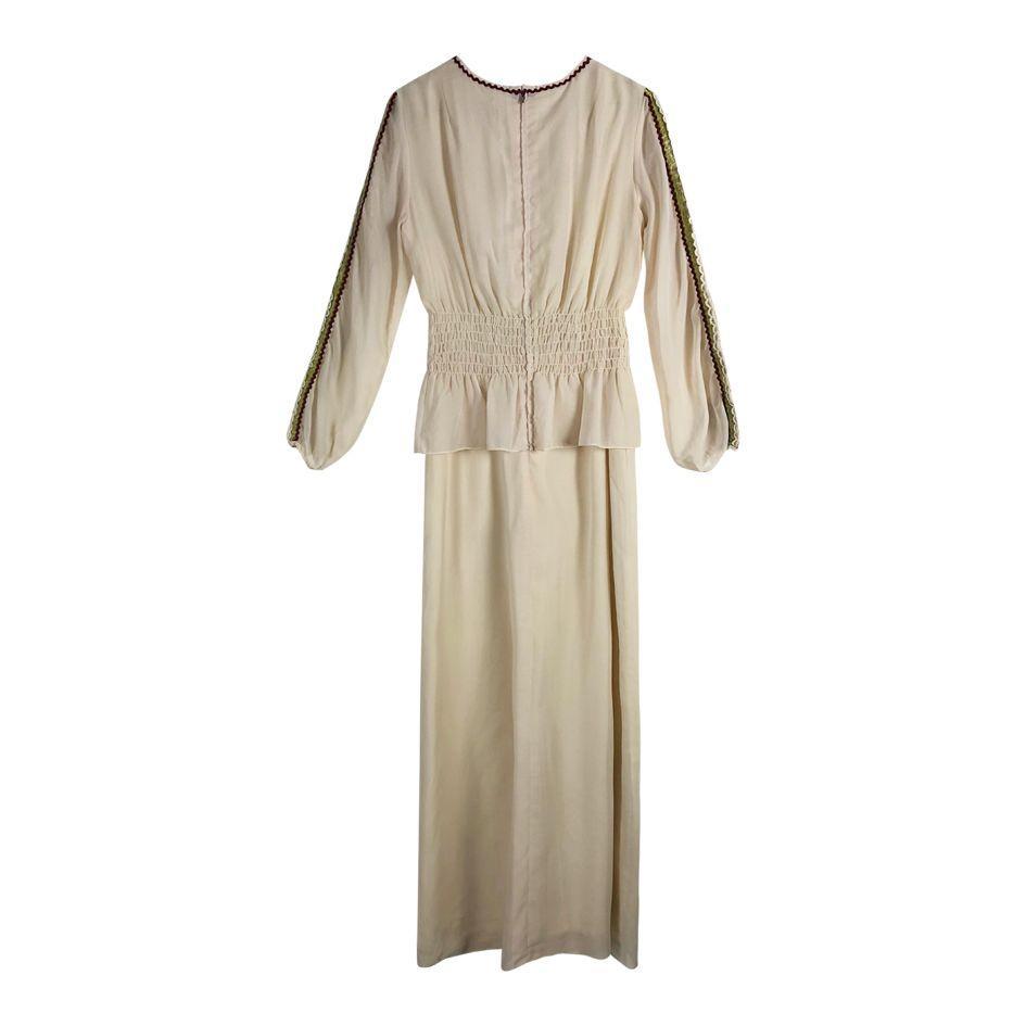 Robes - Robe longue détails dentelle