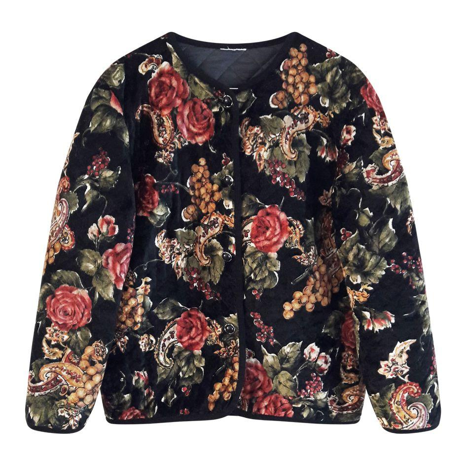 Vestes - Veste à fleurs matelassée