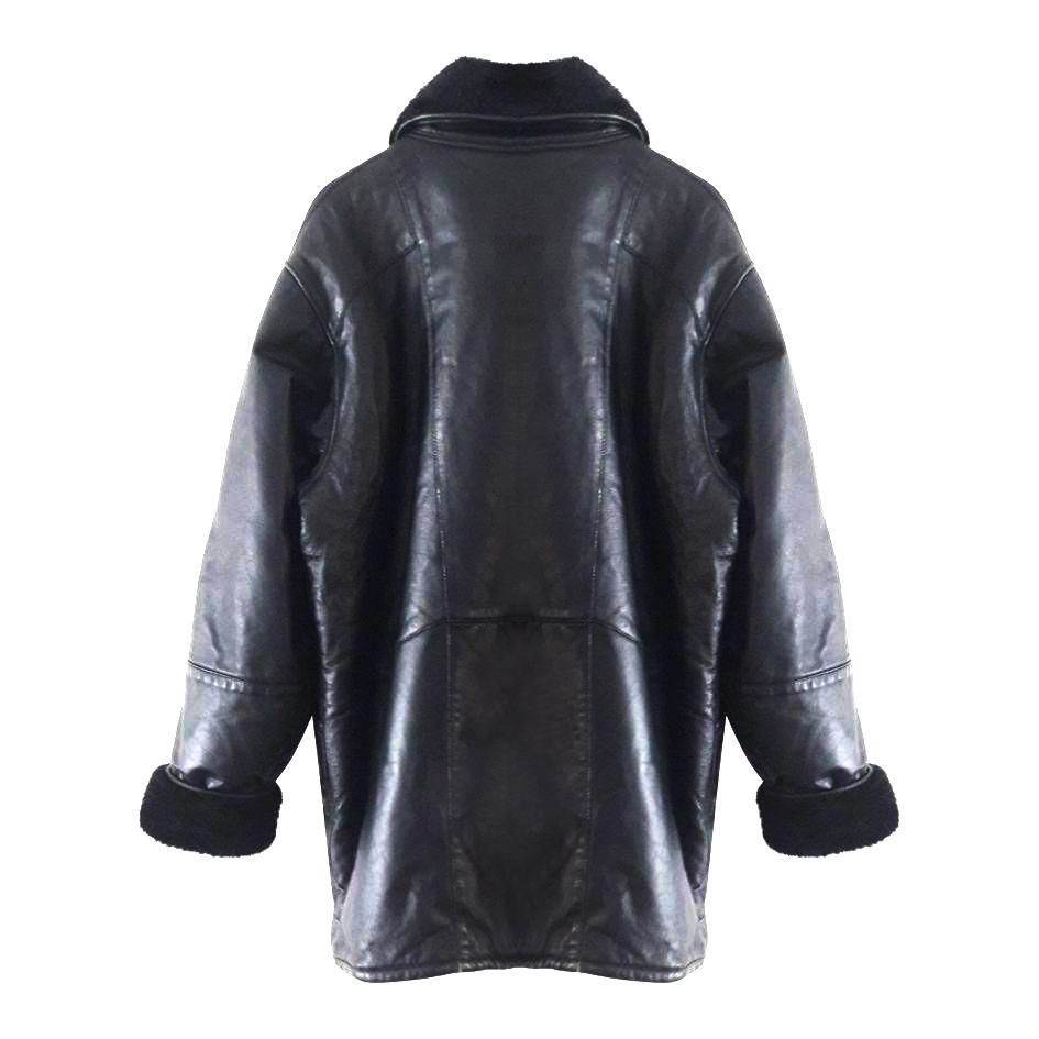 Manteaux - Manteau cuir et fausse fourrure