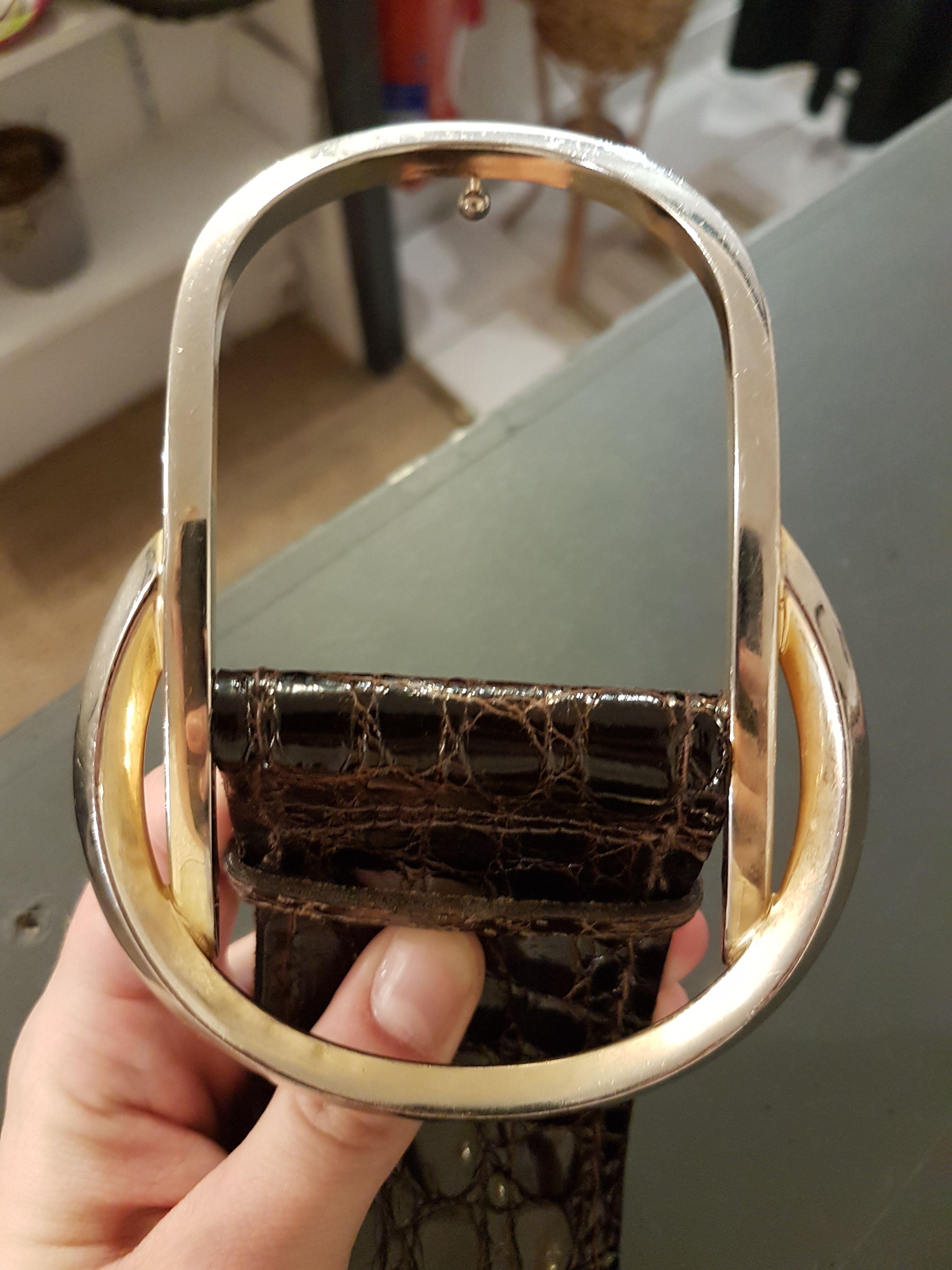 Accessoires - Ceinture croco