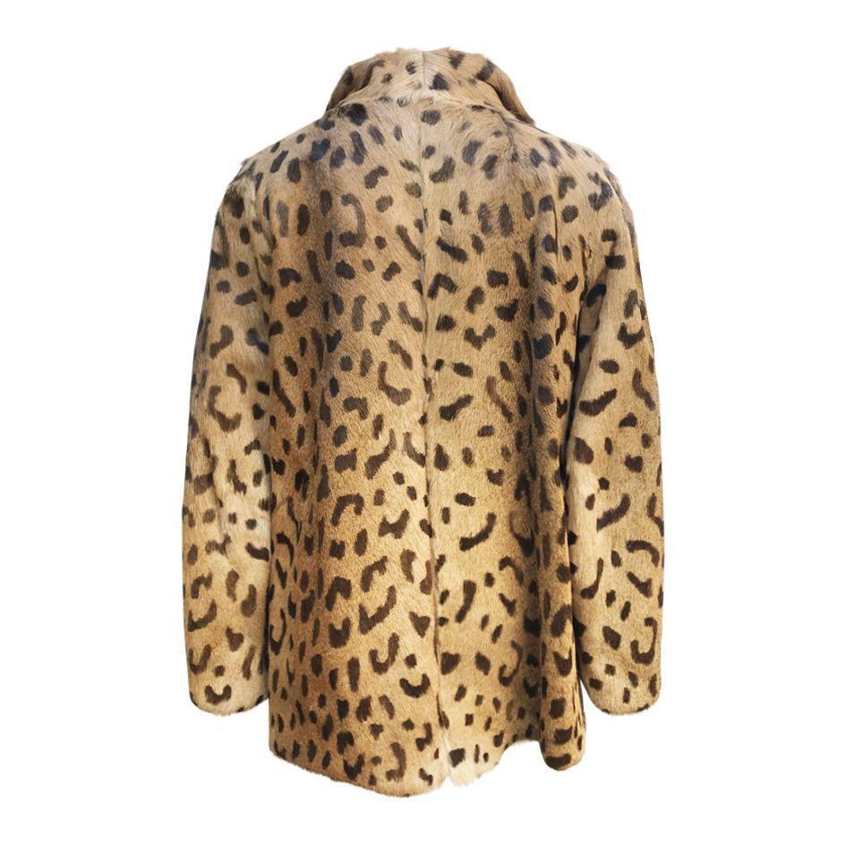 Vestes - Veste en fourrure imprimé léopard
