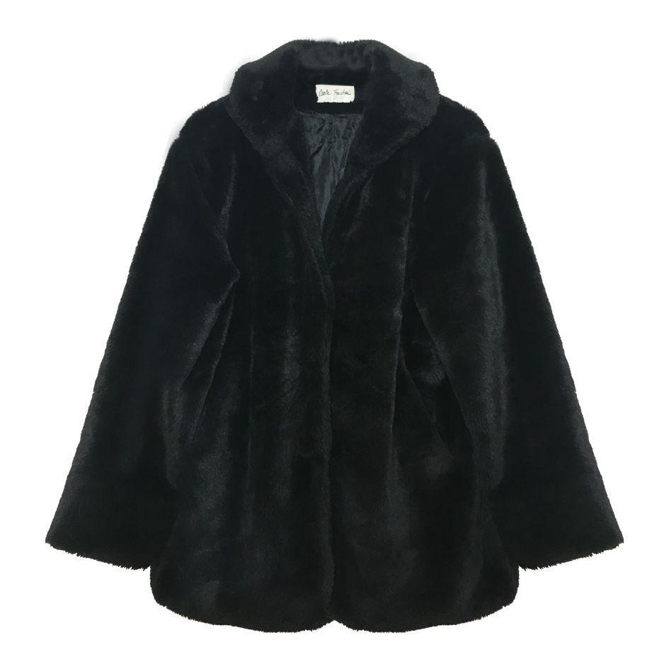 Manteaux - Faux fur noire