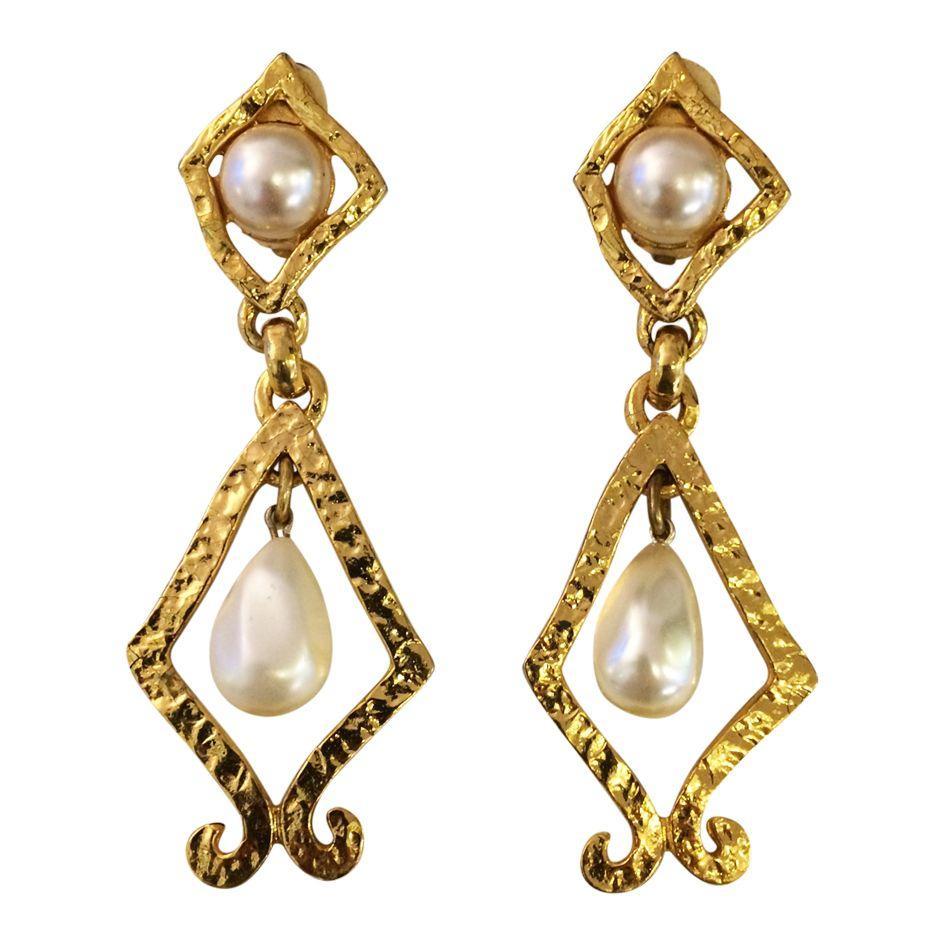 Accessoires - Boucles d'oreilles doré et perle