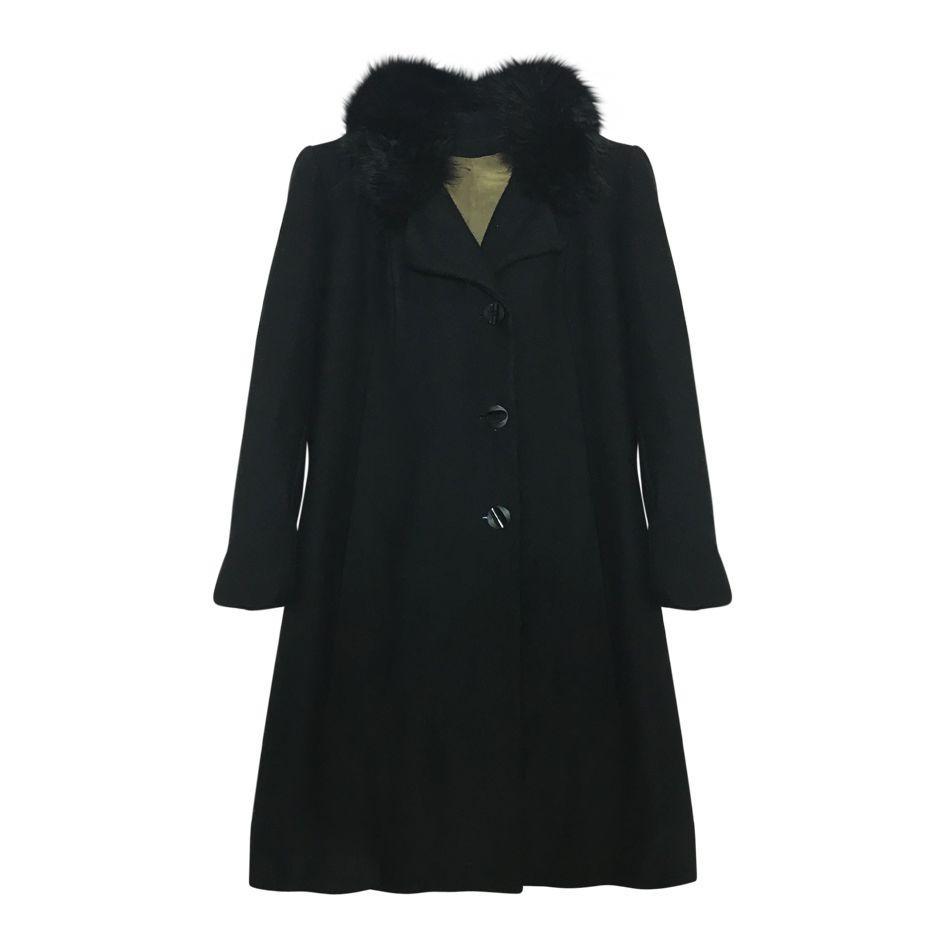 Manteaux - Manteau laine et fausse fourrure