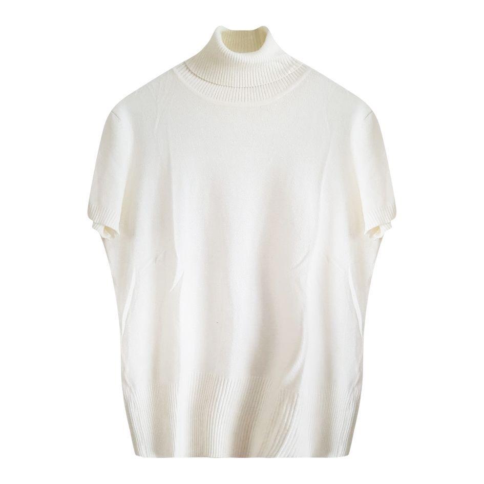 Pulls - Col roulé blanc