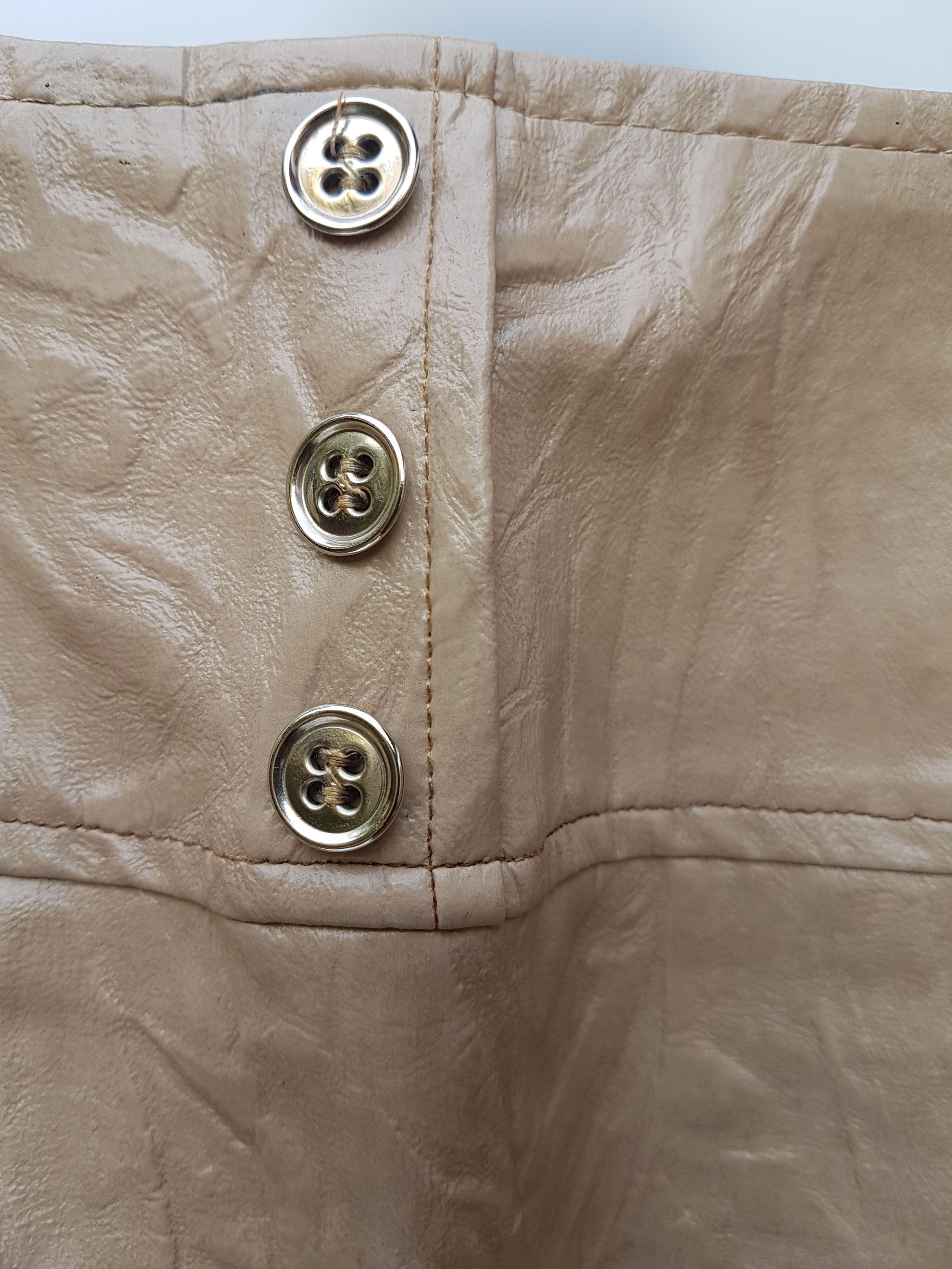 Jupes - Jupe en coton enduit