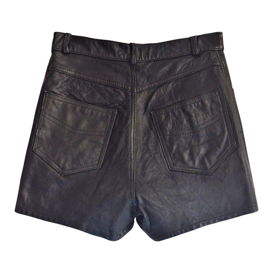 Shorts - Short en cuir