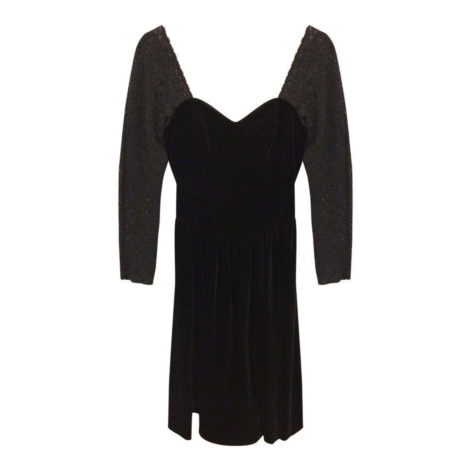 Robes - Robe velours et dentelles