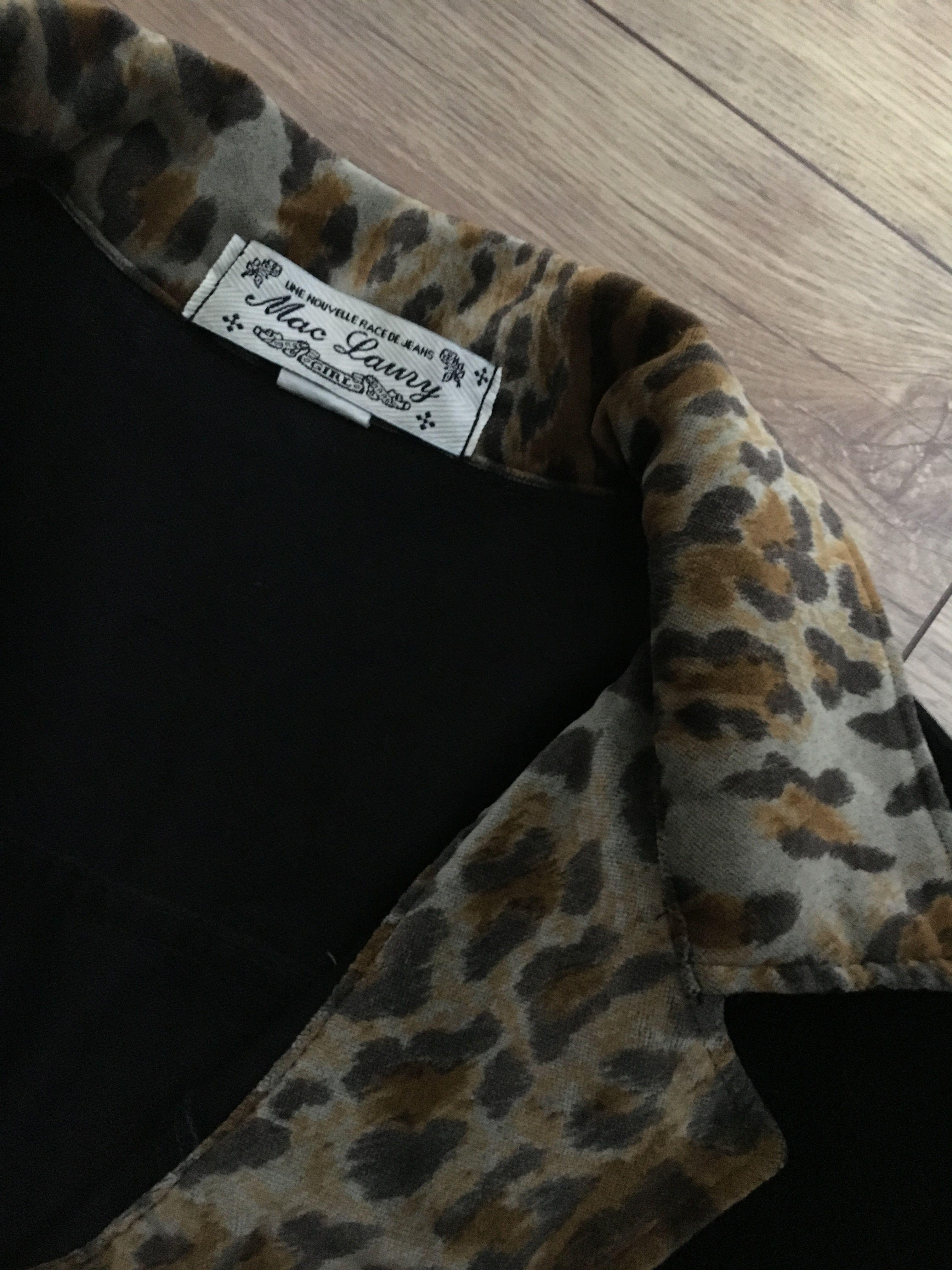 Vestes - Veste velours et léopard