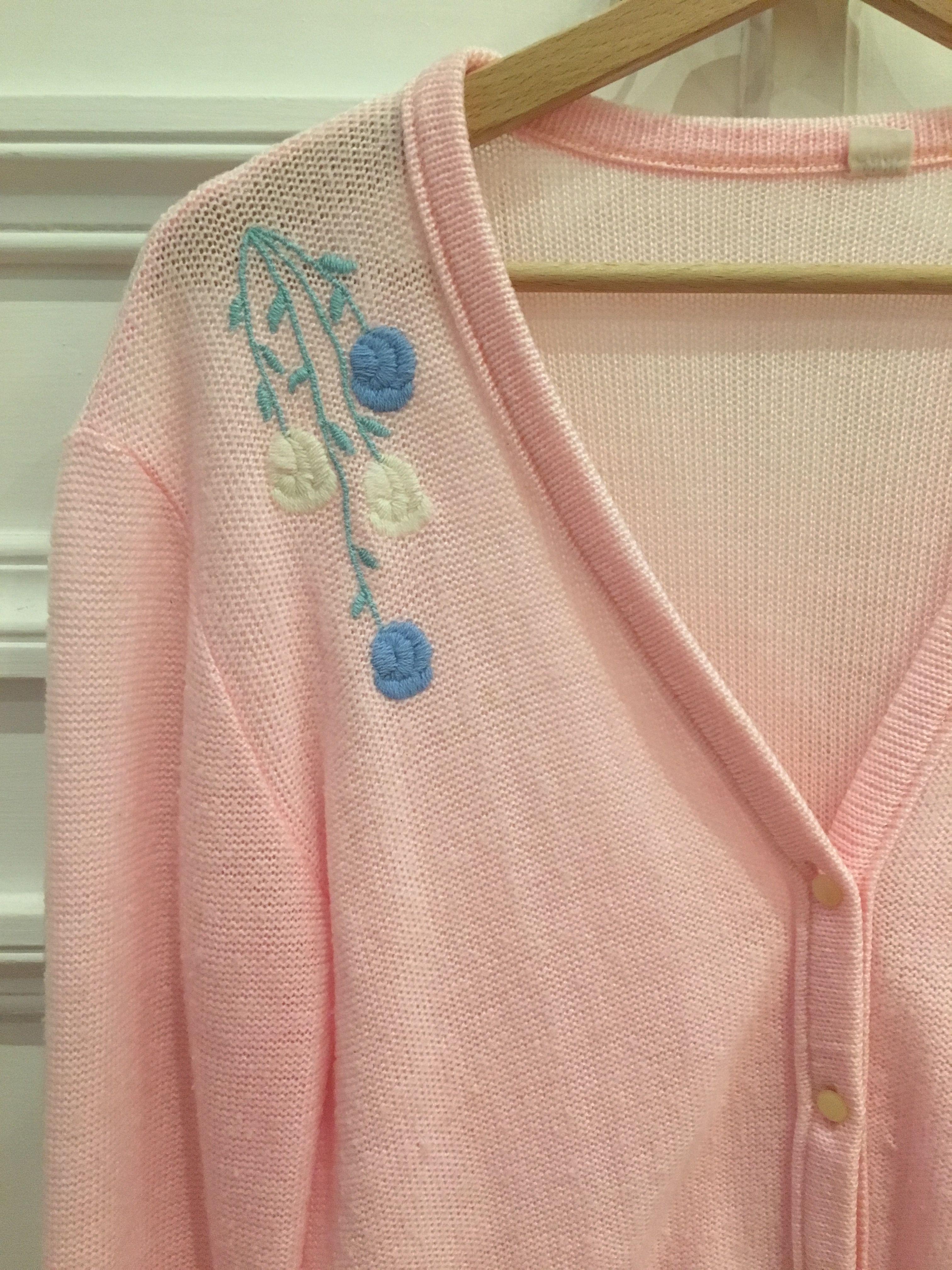 Pulls - Cardigan rose pastel