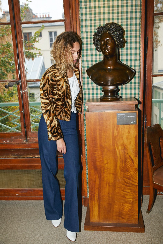 Vestes - Blouson en velours tigre